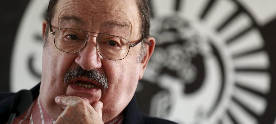 "Italian writer Umberto Eco poses during the presentation of his novel ""The Cemetery of Prague"" in Madrid, in this December 13, 2010 file photo. Italian author Umberto Eco, who became famous for the 1980 international blockbuster ""The Name of the Rose,"" died on Friday, Italian media reported. He was 84. REUTERS/Andrea Comas"