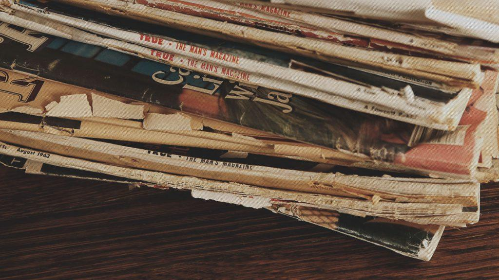 Müzik severler için 70'lerin arsız ve kurgusal porno dergileri